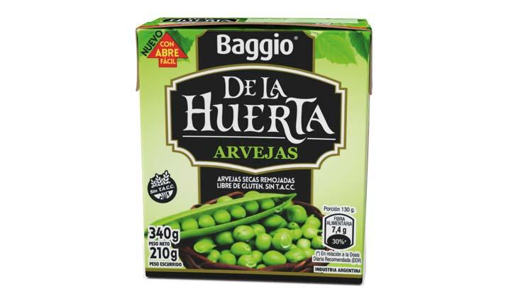 Peas in Tetra Recart carton packages