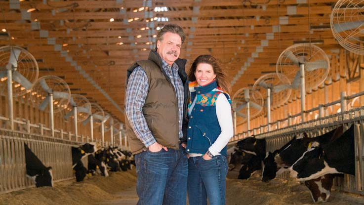 Fair Oaks dairy farm, Mike and Sue Mccloskey
