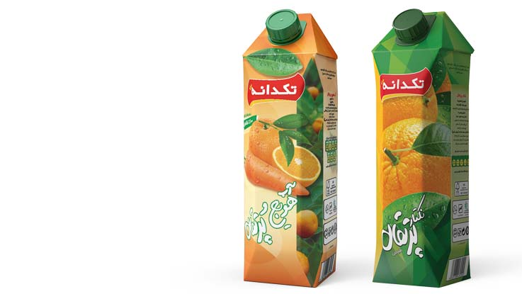 Orange nectar in Tetra Gemina Aseptic carton packages