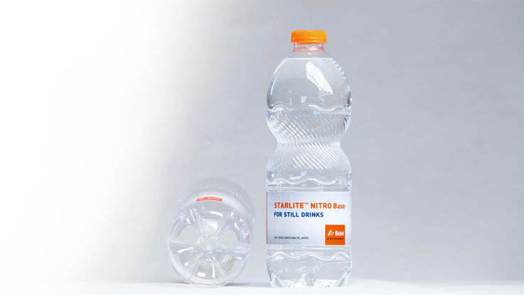 Sidel StarLite™ PET bottles with water