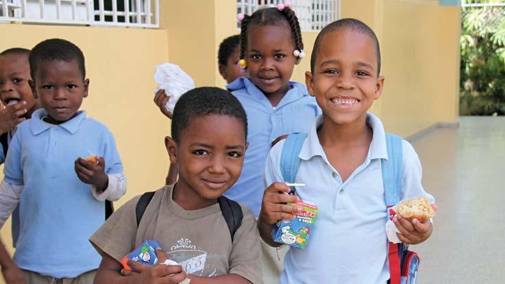 School children Dominican republic